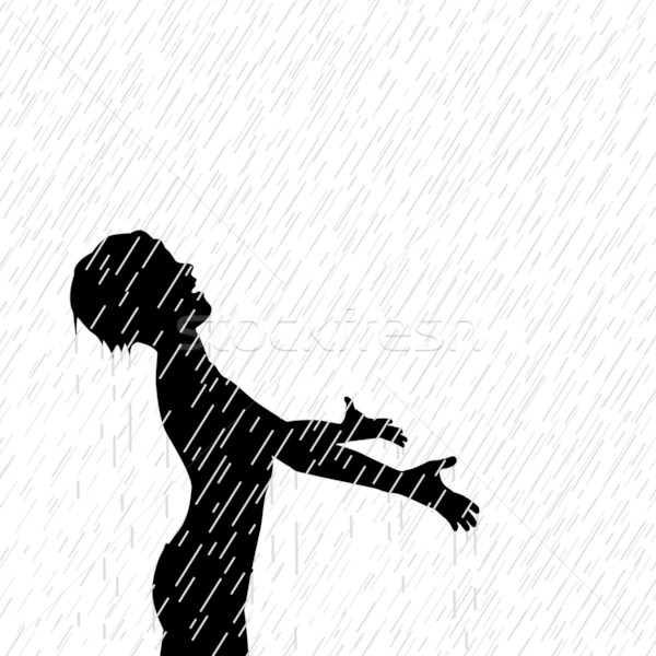 Rain boy Stock photo © Tawng