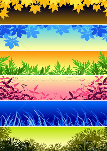 Plant banners Stock photo © Tawng