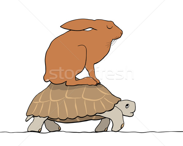 Hare and tortoise Stock photo © Tawng