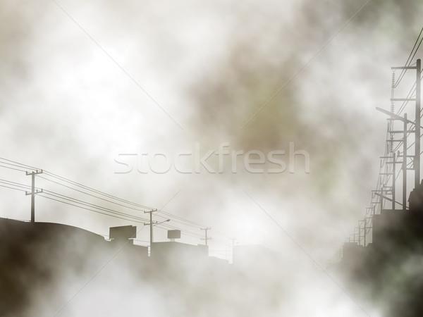 туманный городского улице градиент Сток-фото © Tawng