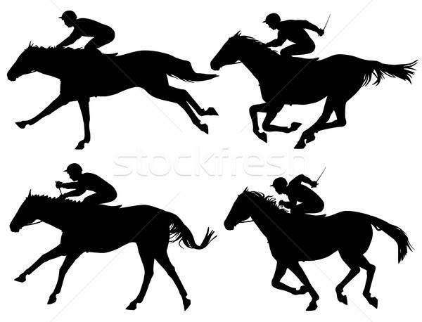 Racing horses Stock photo © Tawng