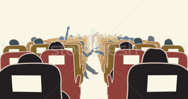 Avion intérieur passagers Voyage président Photo stock © Tawng