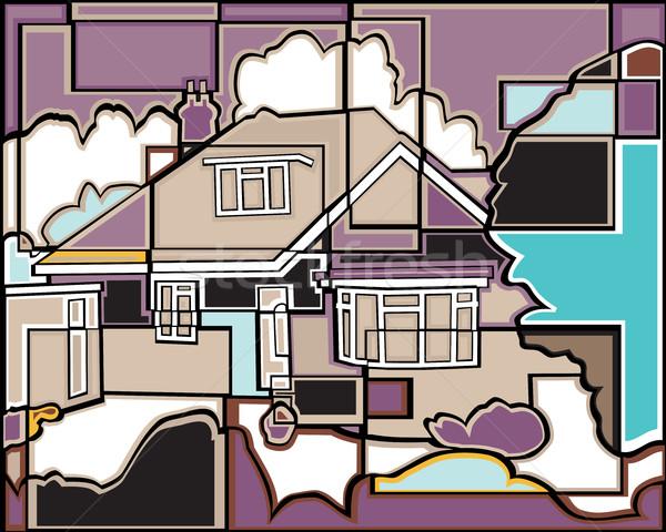Mosaic house Stock photo © Tawng