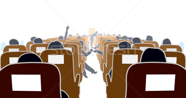 Photo stock: Avion · intérieur · passagers · Voyage · avion
