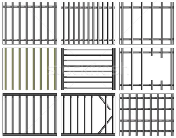 çubuklar vektör tasarımlar hapis pencere Stok fotoğraf © Tawng