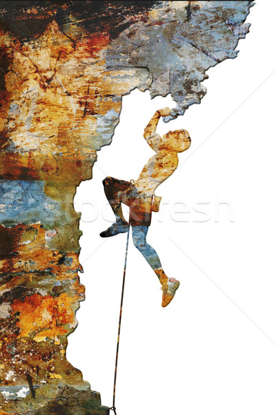 Rock climber Stock photo © Tawng