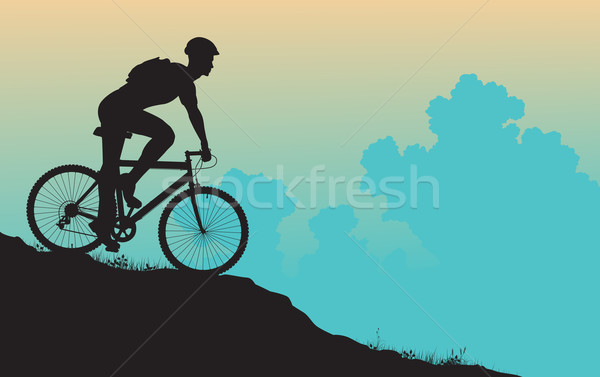 Mountain biker Stock photo © Tawng