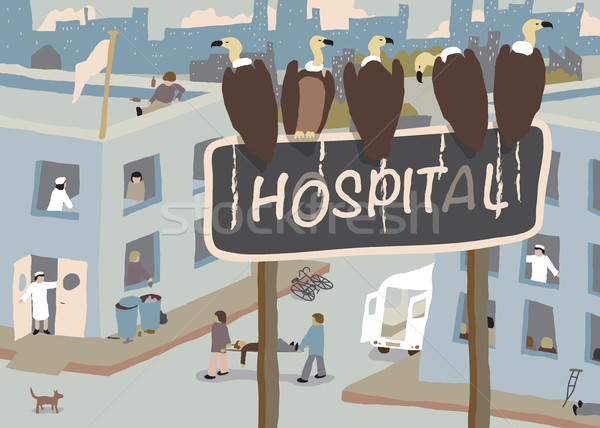 Hospital vultures Stock photo © Tawng