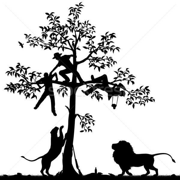 Chased by lions Stock photo © Tawng