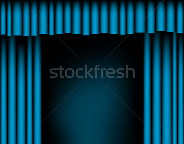 Open curtains Stock photo © Tawng