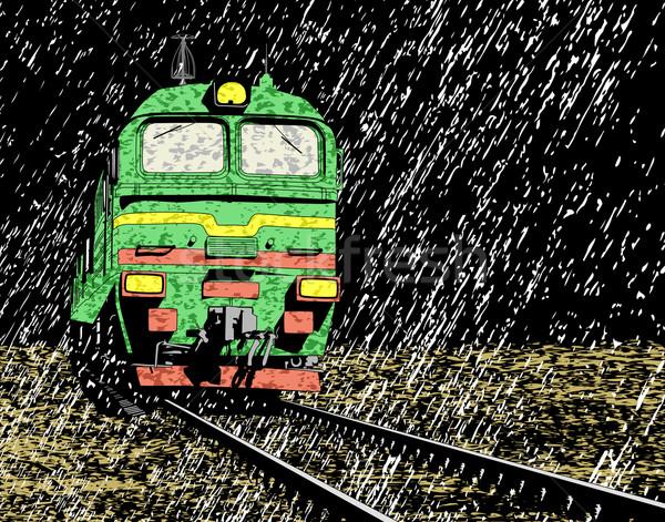 Rain train Stock photo © Tawng