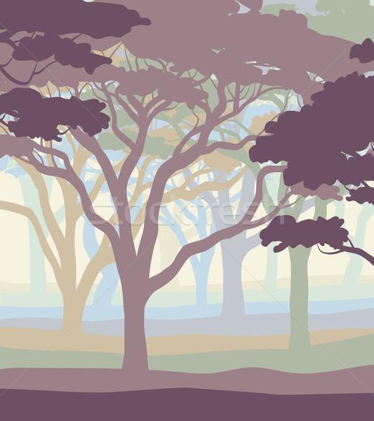 Pastel eps8 abierto colores árboles Foto stock © Tawng