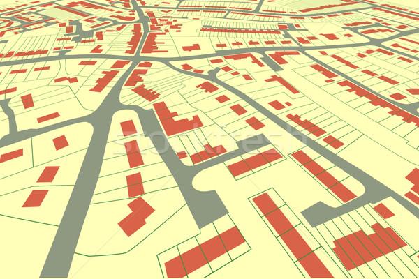 Perspectives vue vecteur logement carte Photo stock © Tawng