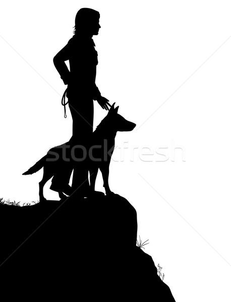 Man and dog Stock photo © Tawng