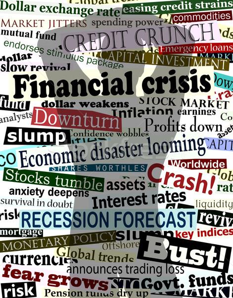 Pénzügyi válság árnyék szerkeszthető vektor terv gazdasági Stock fotó © Tawng