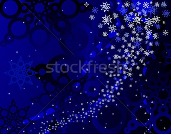 Сток-фото: синий · метель · аннотация · вектора · снега