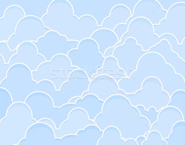 Blue clouds Stock photo © Tawng