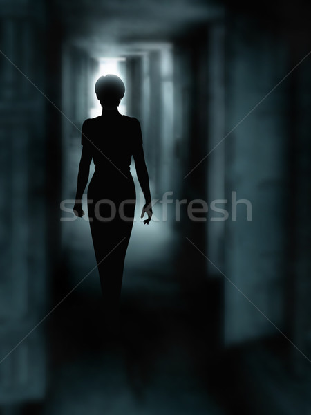 Dark corridor Stock photo © Tawng