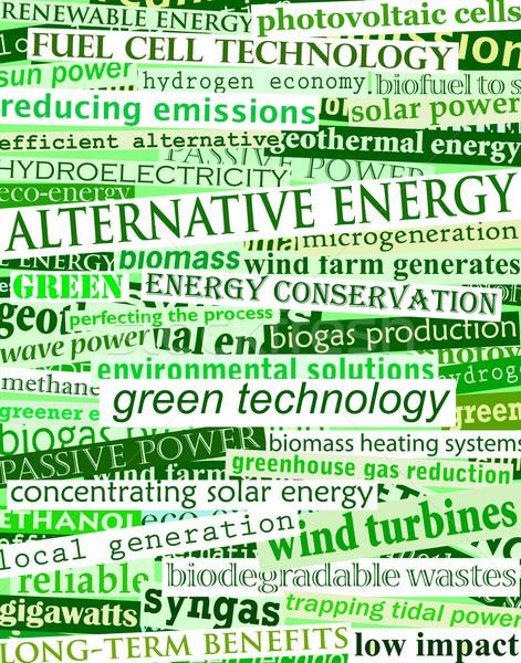Photo stock: Titres · vert · autre · énergie