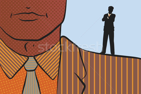 Businessman on shoulder of giant Stock photo © Tawng