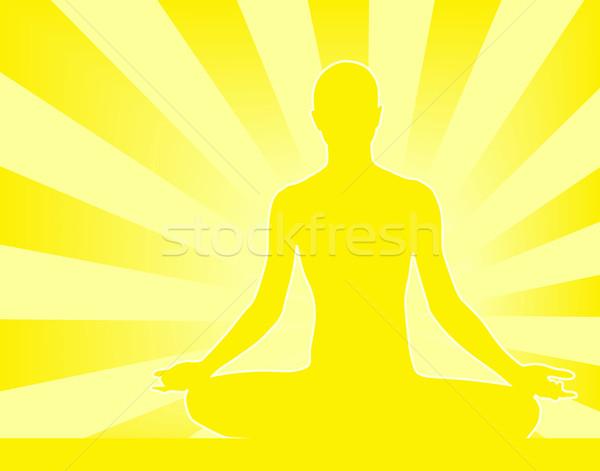 ストックフォト: 瞑想 · 抽象的な · 人 · 瞑想 · 背景 · リラックス