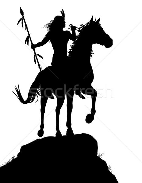 Horseback Indian Stock photo © Tawng