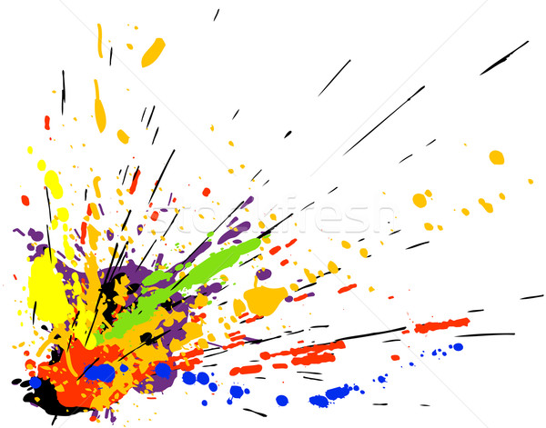 Vernice splatter colorato vettore design abstract Foto d'archivio © Tawng