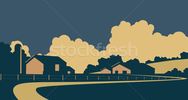 Country farm Stock photo © Tawng