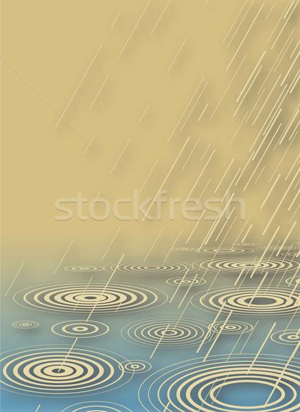 Rain shower Stock photo © Tawng