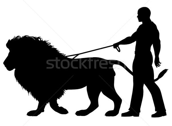 Lion walker Stock photo © Tawng