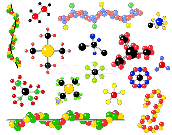 Moléculas vector atómico estructura ciencia Foto stock © Tawng