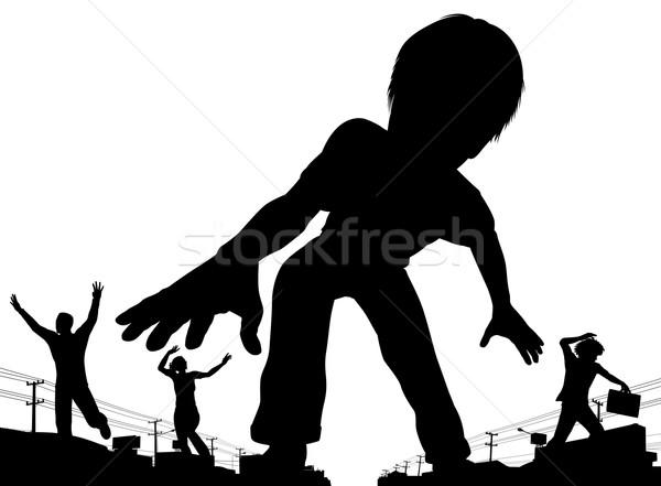 少年 巨人 eps8 ベクトル シルエット ストックフォト © Tawng