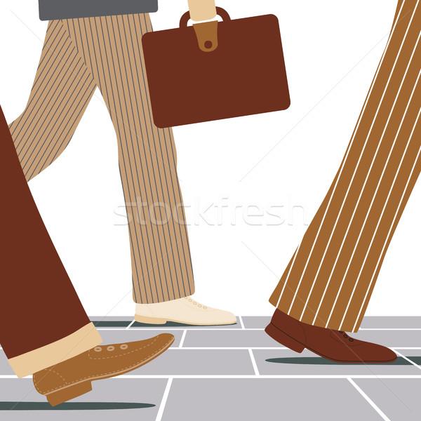 Walking businessmen Stock photo © Tawng