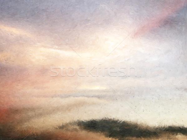 Pintura duna paisagem céu natureza Foto stock © Tawng