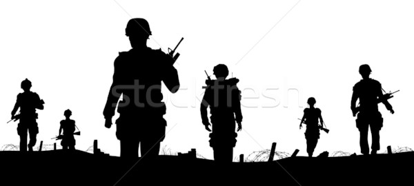 Troops foreground Stock photo © Tawng