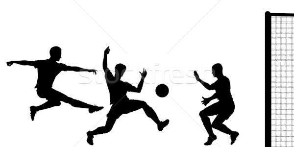 Goalmouth action Stock photo © Tawng