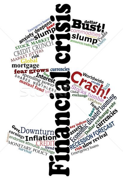 Crisis dollar Stock photo © Tawng