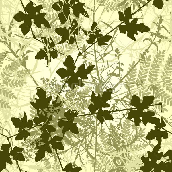 Stock photo: Plant tile