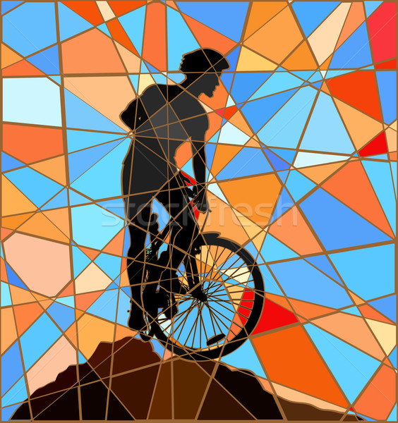 Ridge rider mosaic Stock photo © Tawng