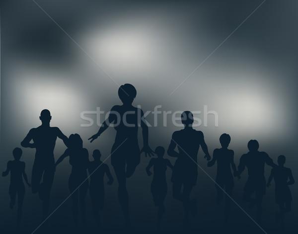 Night runners Stock photo © Tawng