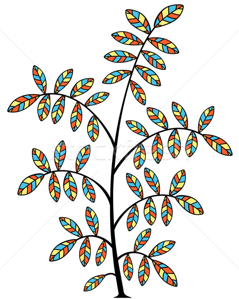 Stained glass tree Stock photo © Tawng
