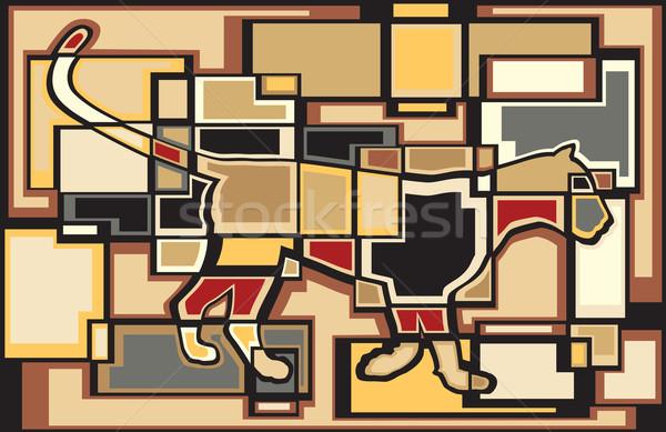 Leopard bloków kolorowy eps8 wektora Zdjęcia stock © Tawng