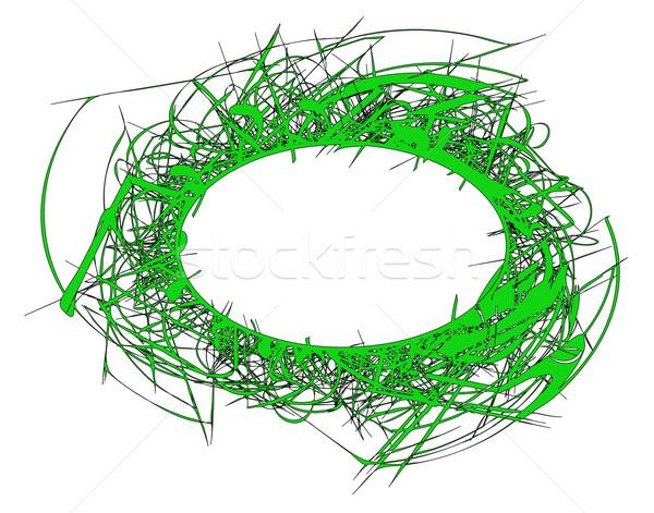 Rêche bannière vecteur texte herbe design Photo stock © Tawng