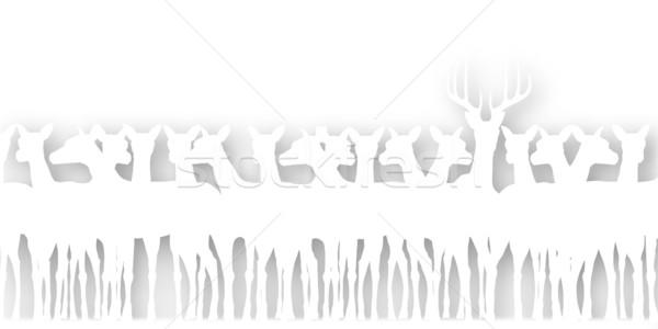 Deer cutout Stock photo © Tawng