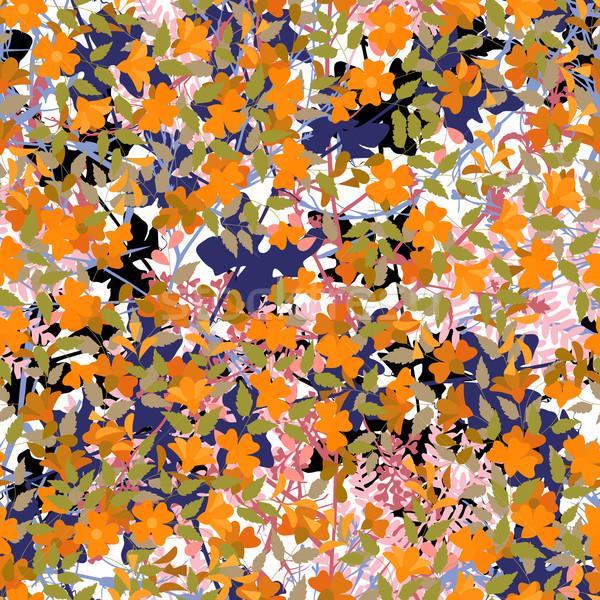 Stock photo: Jungle tile