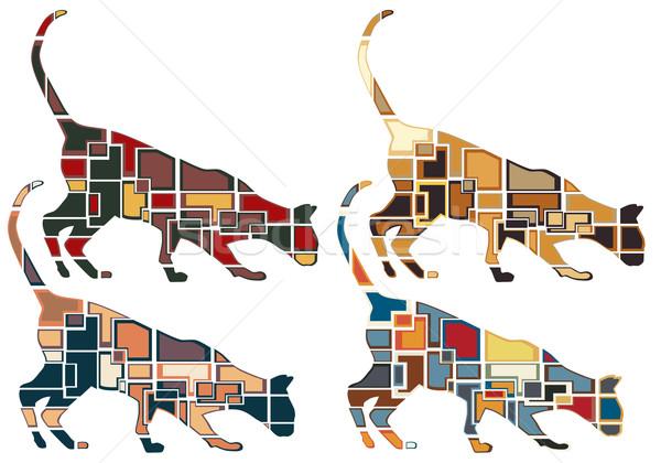 Sniffing cat mosaics Stock photo © Tawng