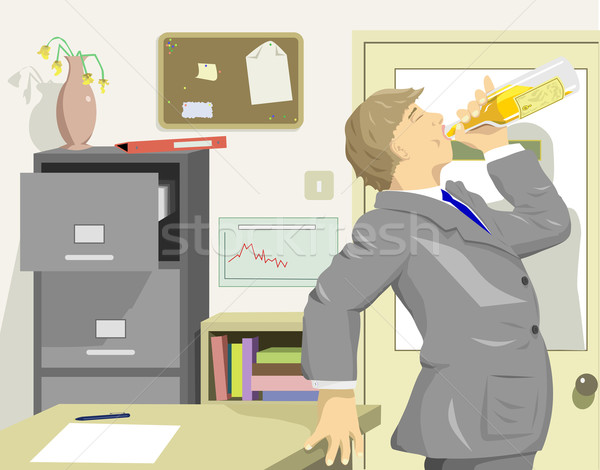 Office drinker Stock photo © Tawng
