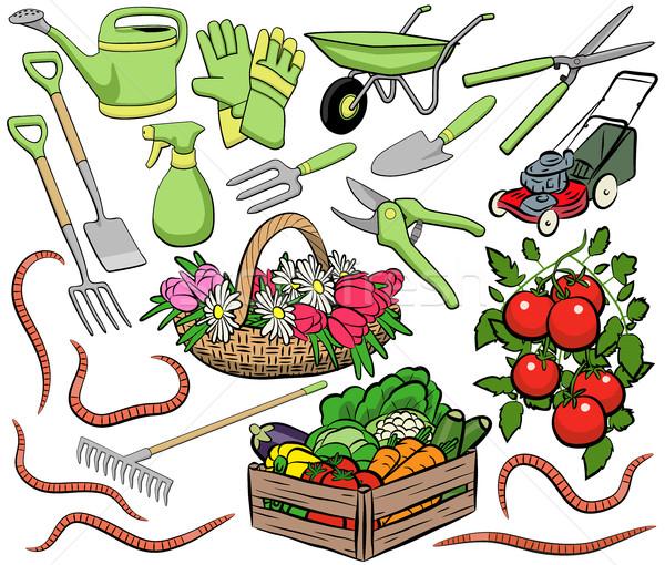 Gardening clip art Stock photo © Tawng