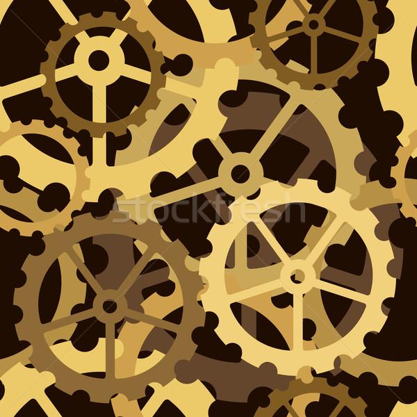 Engranajes azulejo vector sin costura Cog Foto stock © Tawng