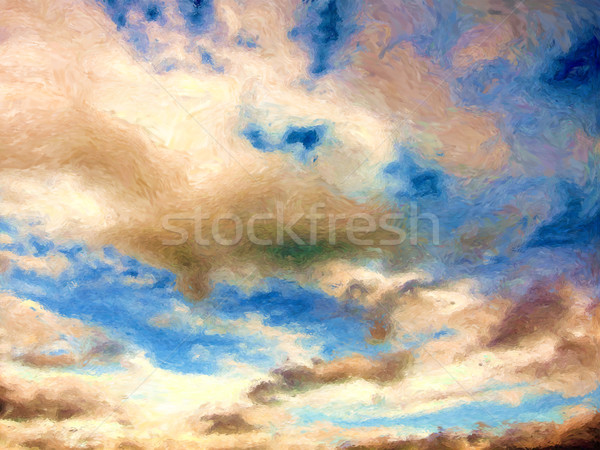 Céu pintura nuvens blue sky natureza tempo Foto stock © Tawng